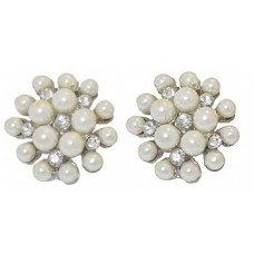 Pearl and Simulated Diamonds Earrings