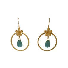 Hoops with stone accents