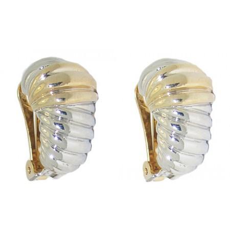 Two Tone Wholesale Shrimp Clip Earring