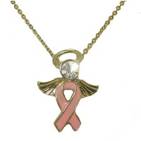 Breast Cancer Awareness Angel wholesale Necklace