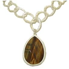 Genuine Natural Tiger Eye Gemstone Necklace