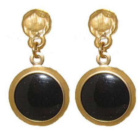 Genuine Black Onyx Earring