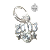925 Sterling Silver 2003 Year Charms
