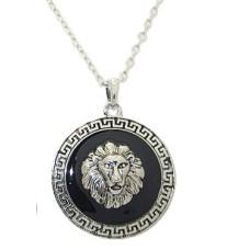 Rhodium plate lion Pendant