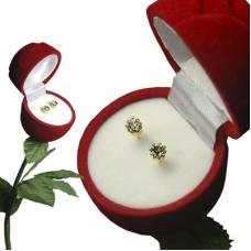 Rose Box Earrings yellow gold