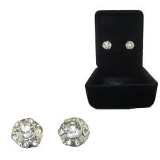 Crystal Stud Earrings wholesale earrings Boxed