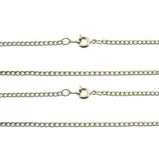 Rhodium plated Curb Wholesale chains