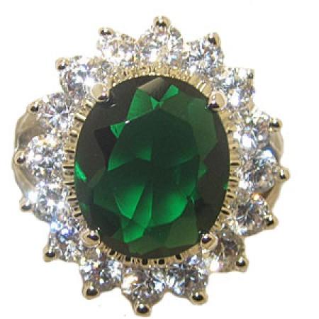 Princess Kate And Di Wholesale Engagement Ring Emerald