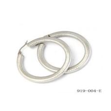 Stainless Steel Omega Hoop Earrings