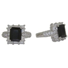 Emerald Cut Cz Celebrity's Jet Black