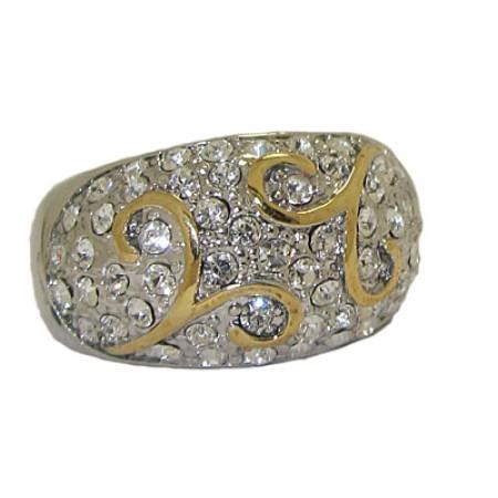 Two Tone Designer Ring