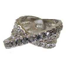 Pass Over Eternity Band Jet Black Clear White Ring