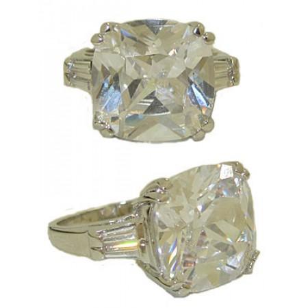 Bachelorette Bling Ring Cushion Cut White Gold Designer Ring