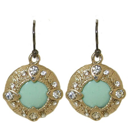 Cubic Zirconia Earrings and Turquoise stones