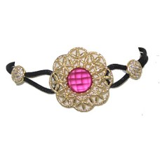 High End Ruby Red Fancy Colored Center Stone Wholesale Bracelet