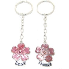 Gift Box Enamel Flower 2 Pcs Wholesale Keychains Sets Boxed