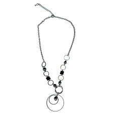 Circle & Black Squares Wholesale Necklace