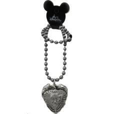 Authentic Disney Large Heart Pirate of the Caribbean Necklace
