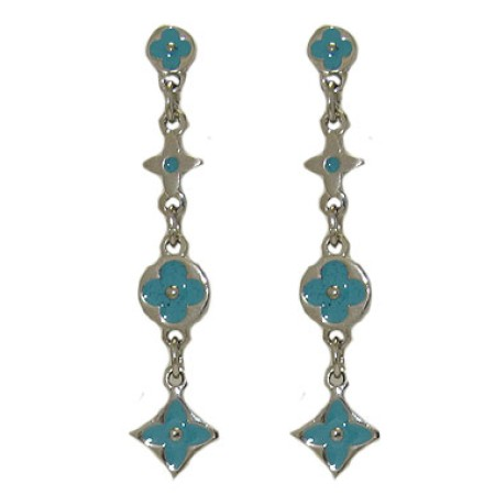 Turquoise Designer Earring in Enamel