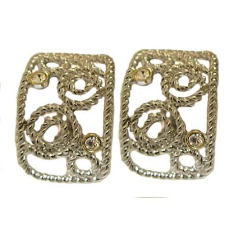 Brush Silver Mate Wholesale Earrings