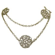 Potatoe Clip Necklace 42 inches