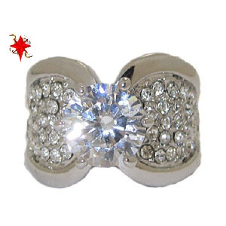 Beautiful Pave white CZ's Wholesale Ring