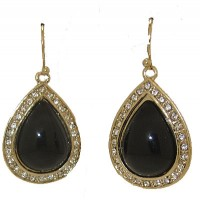 Black Earring tear drop Earring