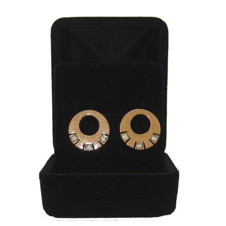 Stainless Steel wholesale jewelry Earring with Cz Accent Rose Gold Boxed