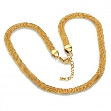 18 KT Gold Plated Mesh 18 inch Necklace