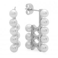 Stainless Steel Simulated Pearl Stud Earrings eight pearls