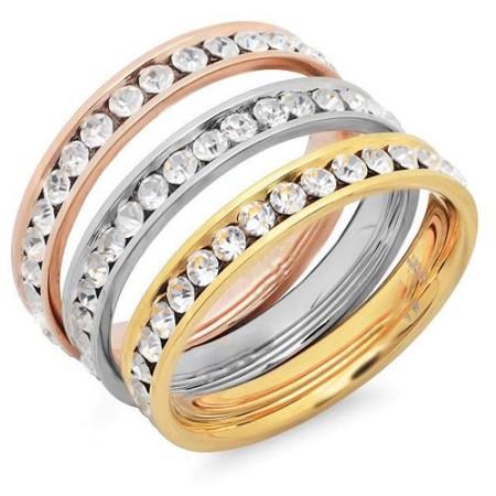 Steel Tri Color Rings