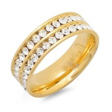 Gold Plated Double Row Ring