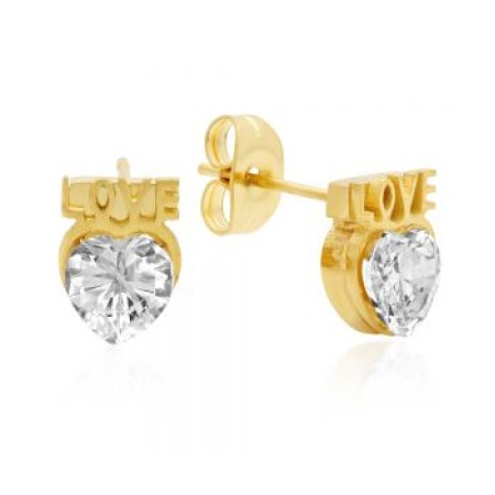 18kt Gold Plated Stainless Steel Stud Earrings