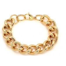 Bracelet Set 18 Karat Gold on Stainless Steel at wholesale