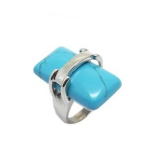 Stainless Steel Genuine Turquoise Wholesale Ring