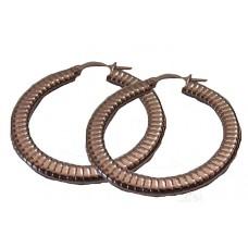 Rose Gold Stainless Steel Hoop Earrings