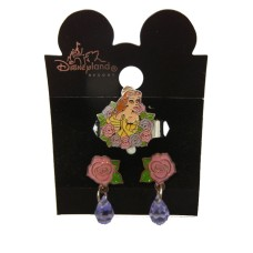 Authentic Disney Belle Earring and Ring Set