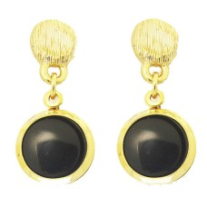 MX Signature Collection Onyx And Gold Earring