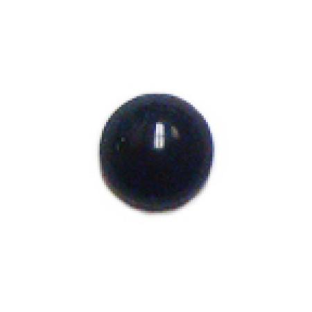 15 Wholesale 10mm Flat Back Black Stones