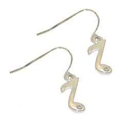 Musical Note Earrings with Crystal buy wholesale