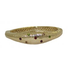 MX Signature Collcection Mate Gold Multi Bangle Bracelet hinged