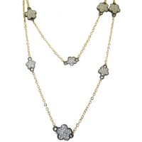 MX Signature Collection Necklace in yellow gold And gun metal in Cz