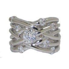 Highend Designer Ring White Gold