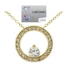 Eternity Circle of life Yellow Gold pendant