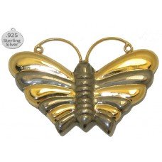 Brooche 925 Sterling Silver Butterfly Pin
