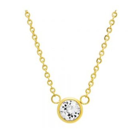 18kt Gold Plated Stainless Steel Necklace With SW Stone