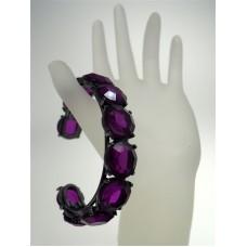 Rocks Amethyst Purple Crystal Bangle