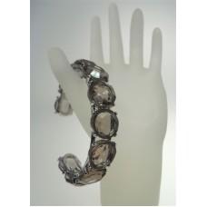 Rocks Black Diamond Crystal Bangle