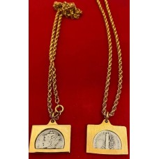 Liberty Silver Mercury Dime coin necklace