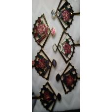 Vintage Cloisonne Bookmark Multi Colored Fan NWT